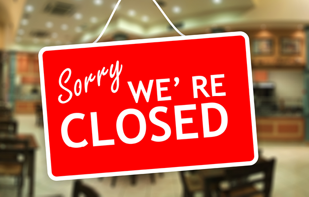 All university gastronomy facilities are closed with immediate effect!