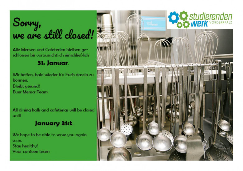 Sorry, we are still closed!